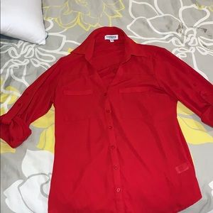Red Women's Blouse